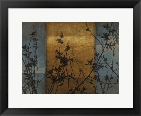 Framed Simple Silhouette Bronze Print