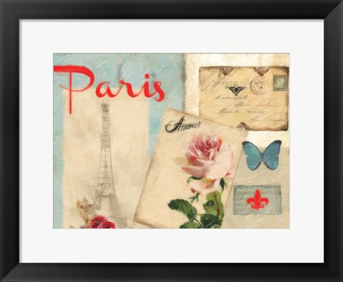 Framed Amour Parise 2 Print