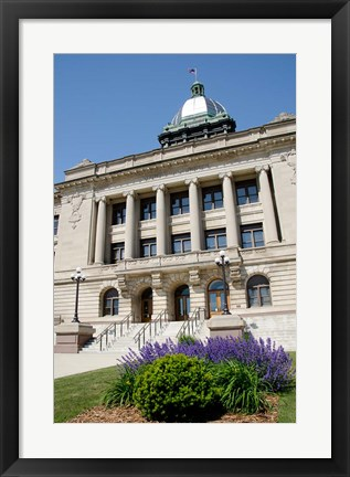 Framed USA, Wisconsin, Manitowoc County Courthouse Print