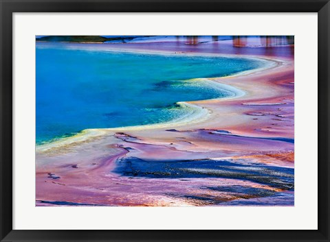 Framed Pattern in Bacterial Mat, Midway Geyser Basin, Yellowstone National Park, Wyoming Print