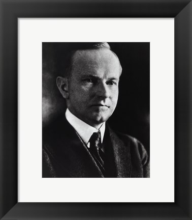 Framed Calvin Coolidge, 30th President of the United States Print