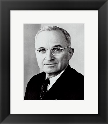 Framed Harry S. Truman, 33rd President of the United States Print