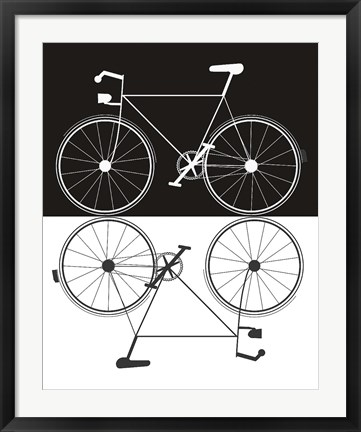 Framed Two Bikes Print