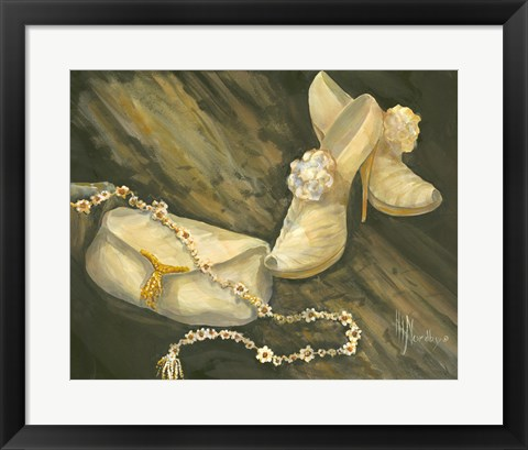 Framed Purse and Shoes Print