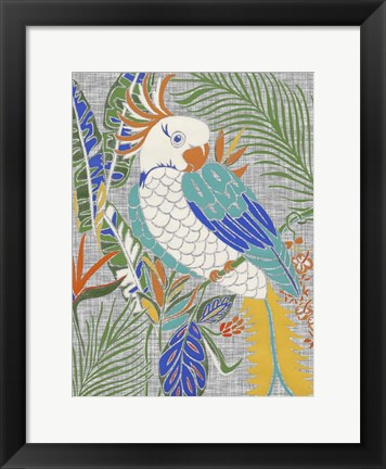 Framed Tropical Cockatoo Print
