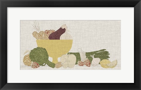 Framed Contour Fruits & Veggies IV Print