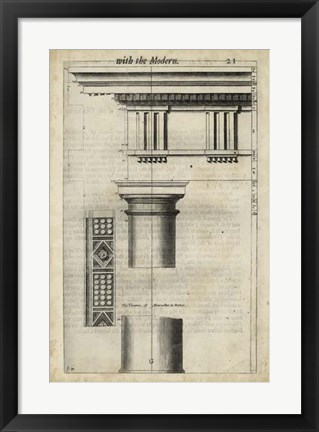 Framed Ancient Architecture VIII Print