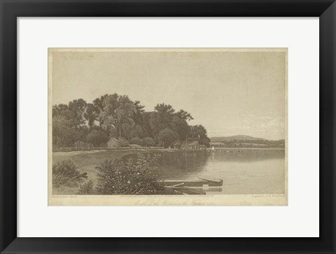 Framed Mouth of the Moodna on the Hudson Print