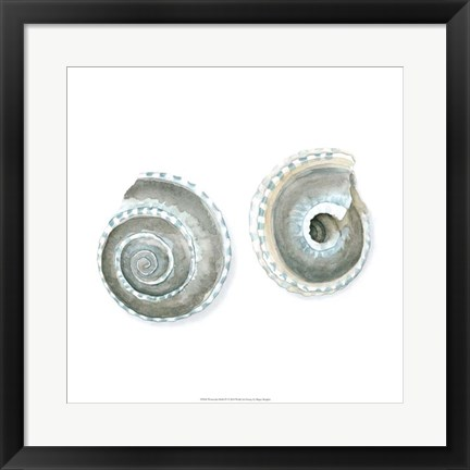 Framed Watercolor Shells IV Print
