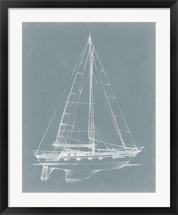 Framed Yacht Sketches II Print
