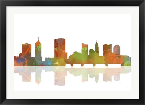 Framed Columbus Ohio Skyline 1 Print