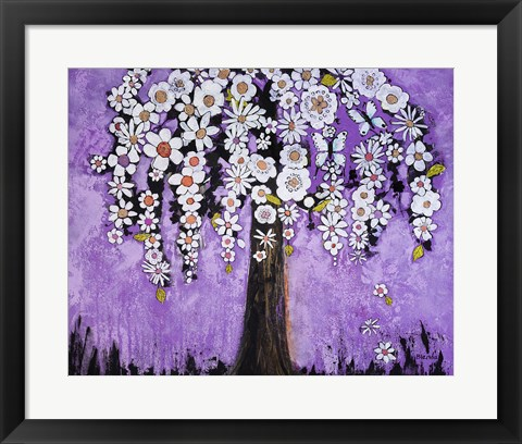 Framed Radiant Orchid Tree Print