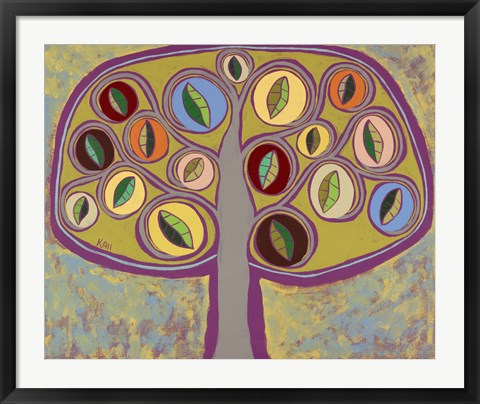 Framed Calming Tree 2 Print