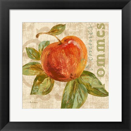 Framed Rustic Fruit I Print