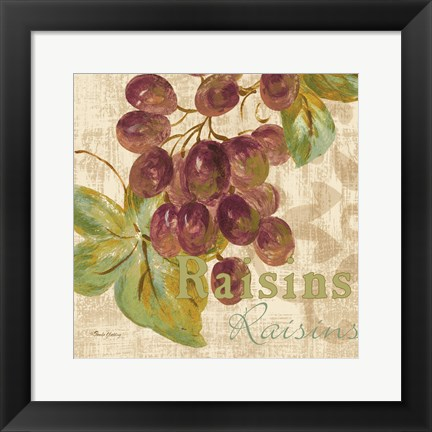 Framed Rustic Fruit II Print