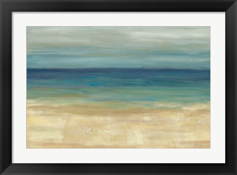 Framed Navy Blue Horizons Print