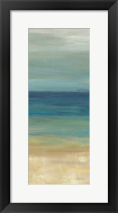 Framed Navy Blue Horizons Panel II Print