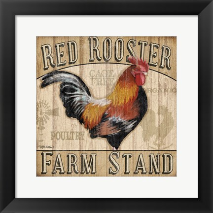 Framed Country Rooster I Print