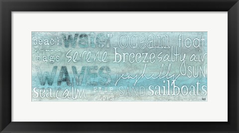 Framed Seascape Sentiment II Print