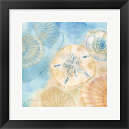 Framed Watercolor Shells III Print