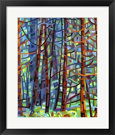 Framed In A Pine Forest Print