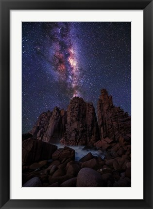 Framed Pinnacles Milky Way Print