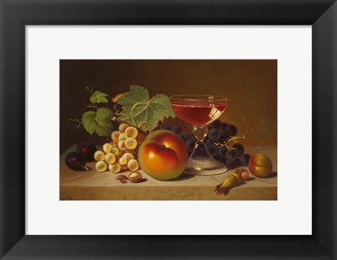 Framed Fruit and Cocktail Print