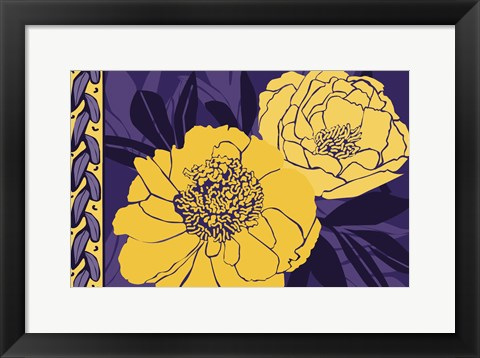 Framed Color Bouquet I Print