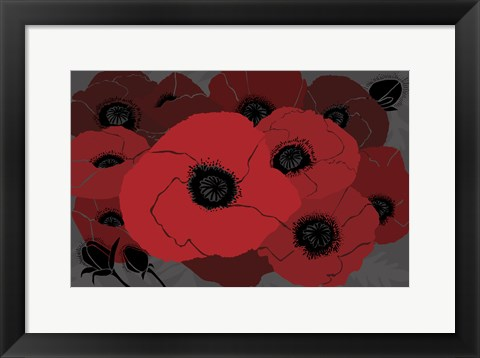 Framed Beautes Rouges I Print