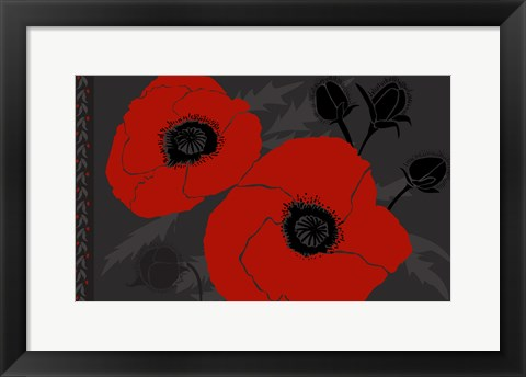 Framed Beautes Rouges IV Print