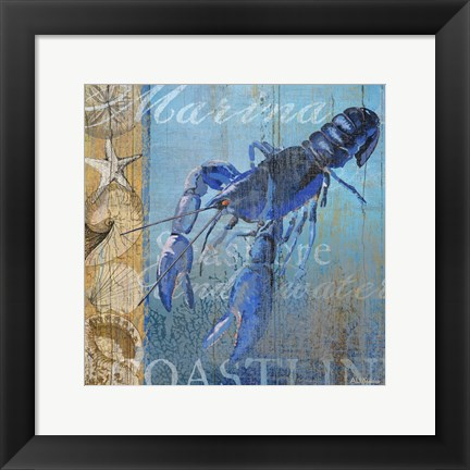 Framed Lobster and Sea Print