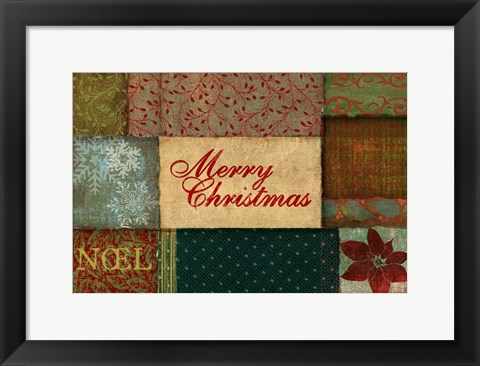 Framed Christmas Patches Print