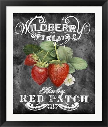 Framed Wildberry Fields Print