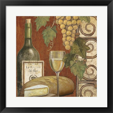 Framed Wine and Cheese Tasting 1 Print