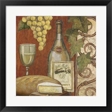 Framed Wine and Cheese Tasting 2 Print