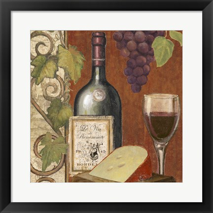 Framed Wine and Cheese Tasting 4 Print