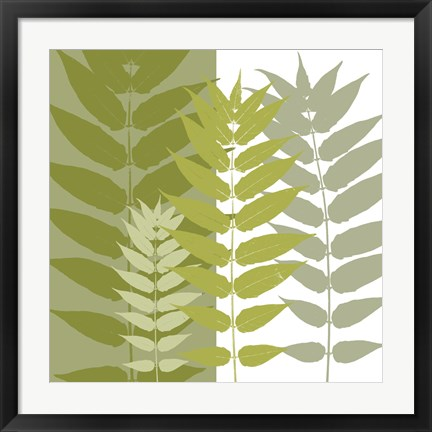 Framed Garden Greens Print