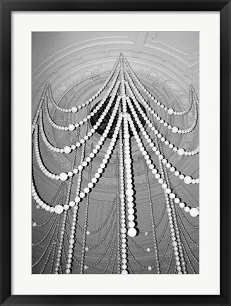 Framed Hanging Pearls Print