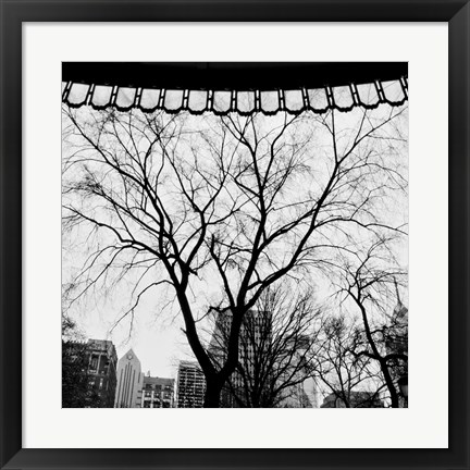 Framed Park View I Print