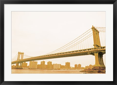 Framed Gold Bridge Print