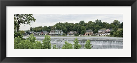 Framed Boathouse Row Print