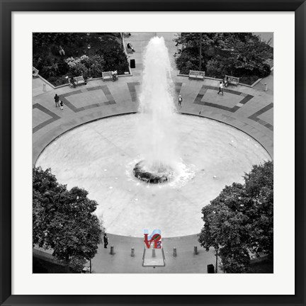 Framed Love from Above (b/w) Print
