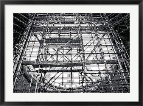 Framed Inside Clock (b/w) Print