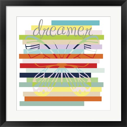 Framed Butterfly Rainbow Print