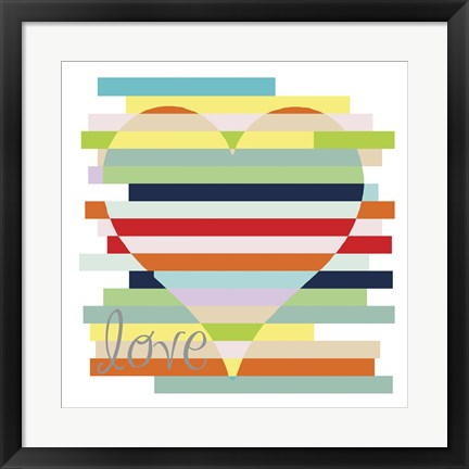 Framed Heart Rainbow Print