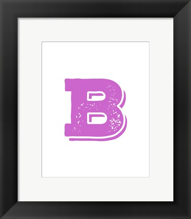 Framed B in Pink Print
