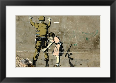 Framed Bethlehem Wall Graffiti Print