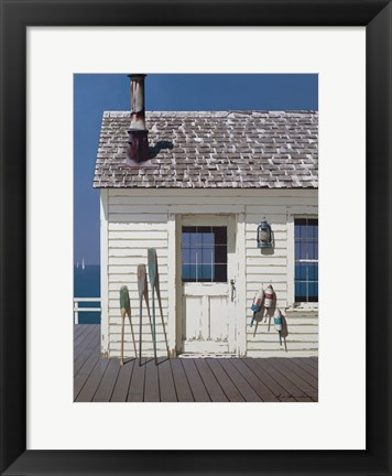 Framed Oars and Buoys Print