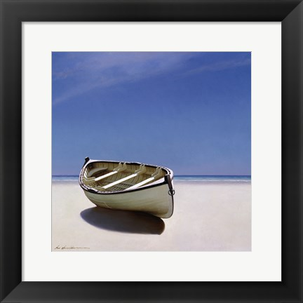 Framed Beached Boat Print