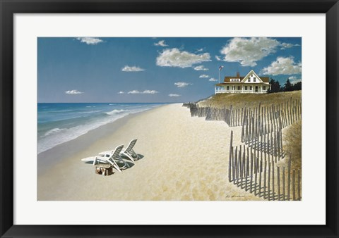 Framed Beach House View Print